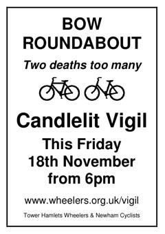 Bow roundabout vigil, 18 November 2011