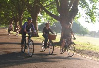 summer evening ride through Victoria Park